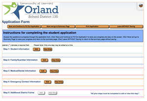 Image of New Student Registration Screen